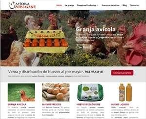 Nueva web de Avícola Zubigane